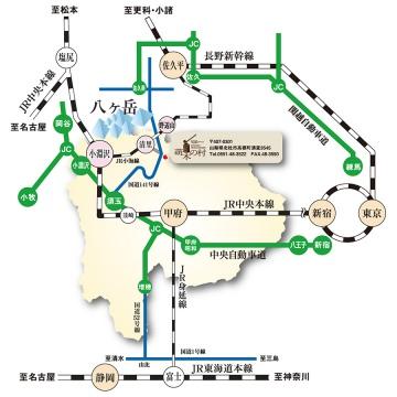萌木の村アクセスマップ